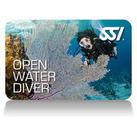 Photo of the SSI open Water Diver Certification Card.