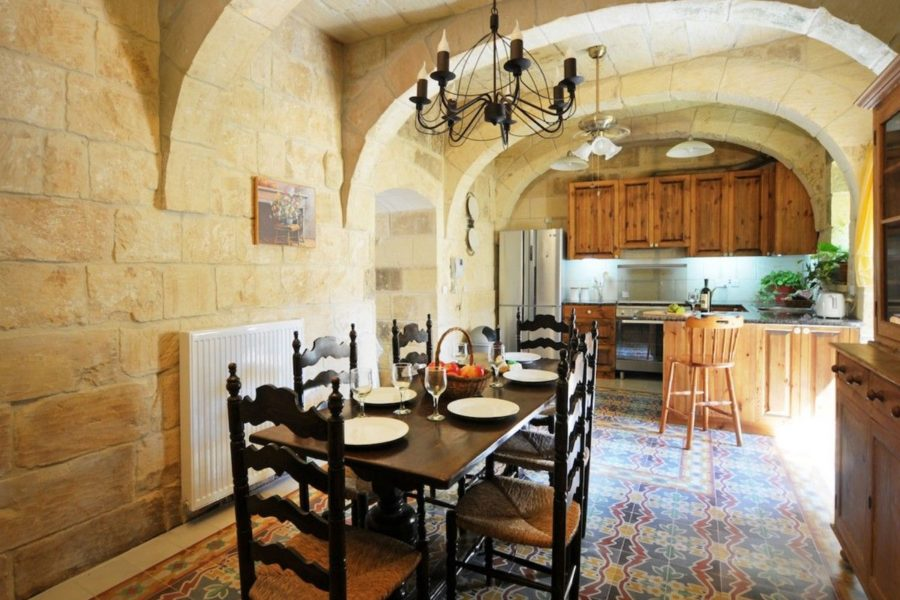 Typical Gozo villa dinning room.